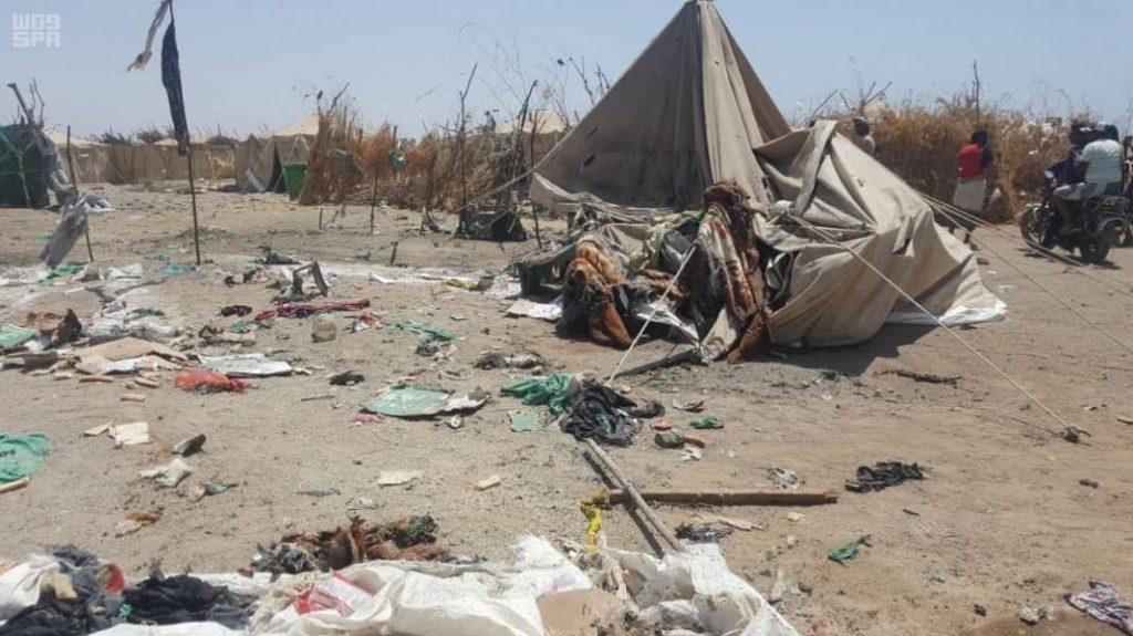 مركز الملك سلمان للإغاثة يدين استهداف الحوثيين لمخيمه في الخوخة
