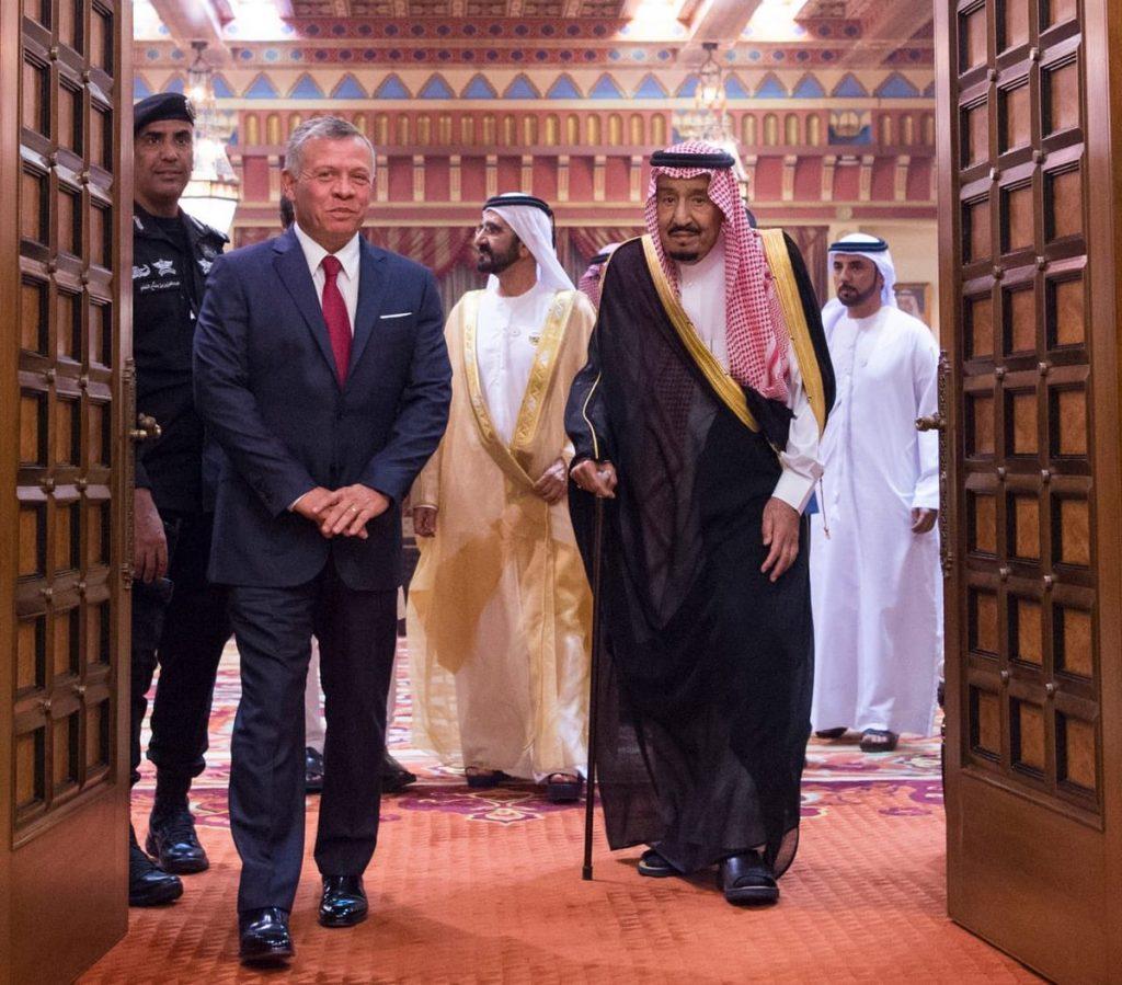 خادم الحرمين الشريفين يستقبل ملك الأردن ونائب رئيس دولة الإمارات العربية المتحدة ورئيس وزراء باكستان ونائب رئيس وزراء إثيوبيا