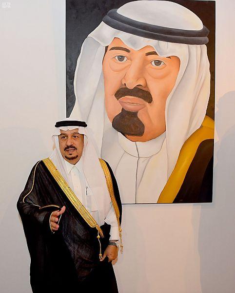 الأمير فيصل بن بندر يفتتح معرض الفن التشكيلي(الانعكاس) للأمير هيفاء بنت عبدالله