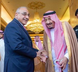 خادم الحرمين الشريفين يعقد جلسة مباحثات مع رئيس الوزراء العراقي