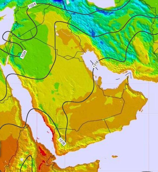 خبير جوي:تأثر الأجزاء الغربية برياح قوية تثير الغبار
