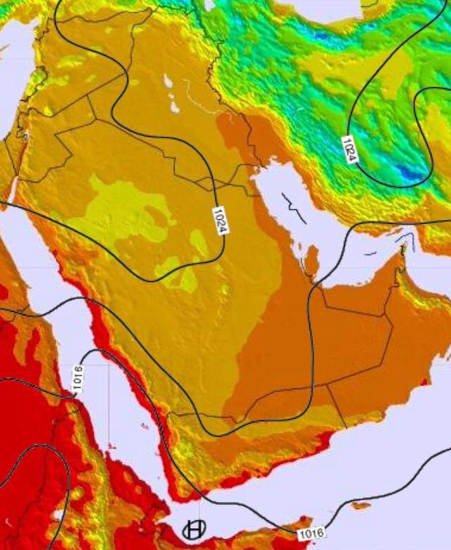 تدني درجات الحرارة في بعض المناطق إلى تحت الصفر