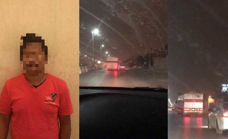 شرطة الرياض: سائق الشاحنة المتهور كان بحالة غير طبيعية