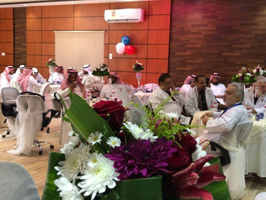 مستشفى الولادة والأطفال بتبوك يقيم حفل معايدة لمنسوبيه