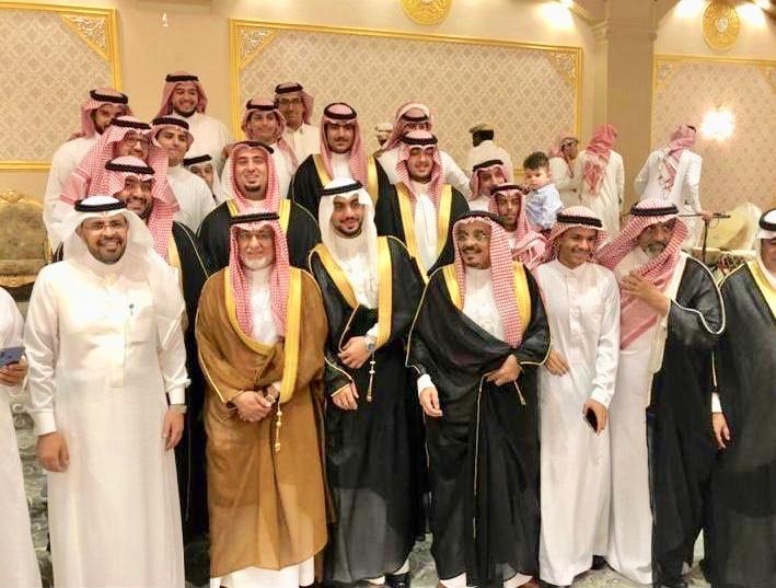 العبدالرحيم والمهنا يزفون محمد عريساً