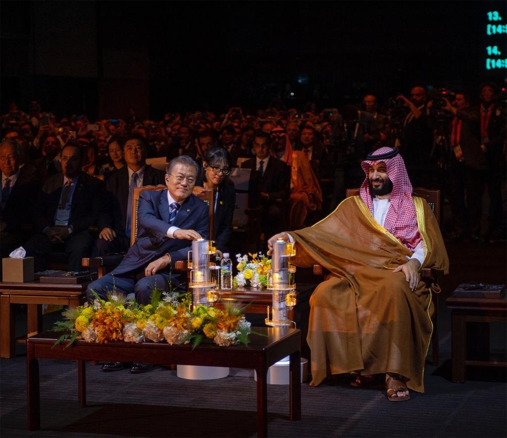 """ولي العهد والرئيس الكوري يفتتحان توسعة مصفاة النفط """"إس-أويل"""" بقيمة 6 مليارات دولار"""