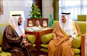 """الأمير فيصل بن بندر  يلتقي مدير عام """"صحة الرياض"""" الجديد"""